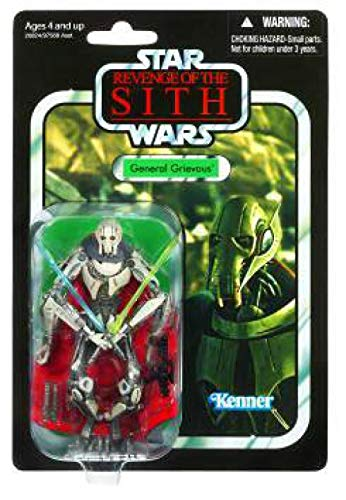 Lightsabers General Grievous - Star Wars General Grievous with Cape 3.75 inch Vintage Figure