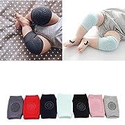 Baby Crawling Anti-Slip Knee, Unisex Baby Toddlers Kneepads 7 Pairs