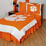 College Covers Clemson Tigers Reversible Comforter Set, Queen by College Covers