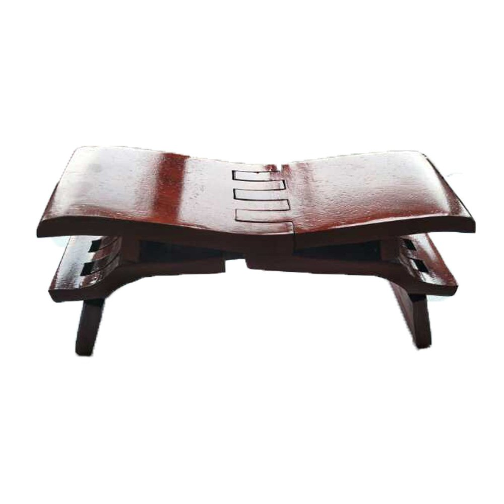HAIBEIR Wooden folding chair,Pure manual production, LuBan Stool (African Padauk)