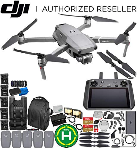 DJI Mavic 2 Pro Drone Quadcopter with Hasselblad Camera 1″ CMOS Sensor with Smart Controller Ultimate 5-Battery Bundle