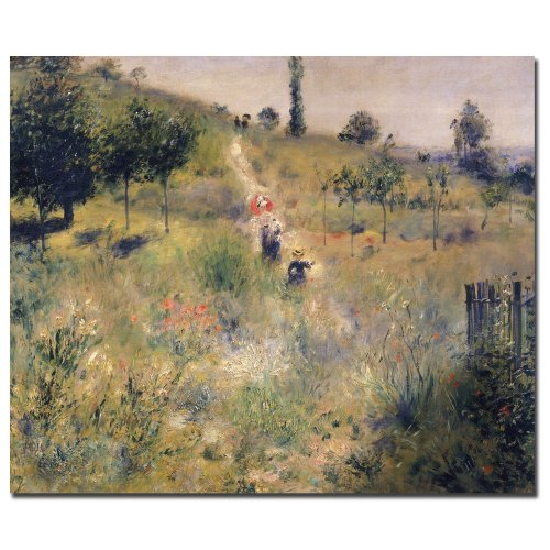 The Path through the Long Grass, 1875 by Pierre-Auguste Renoir, 26 by 32-Inch Canvas Wall Art