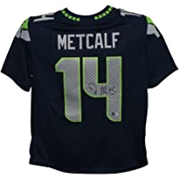 $299 » DK Metcalf Autographed/Signed Seattle Seahawks Blue Nike XL Jersey BAS