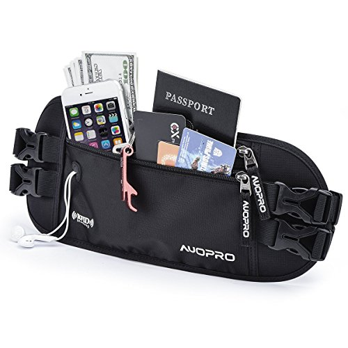 AUOPRO Blocking Double Waistbelts Travel product image