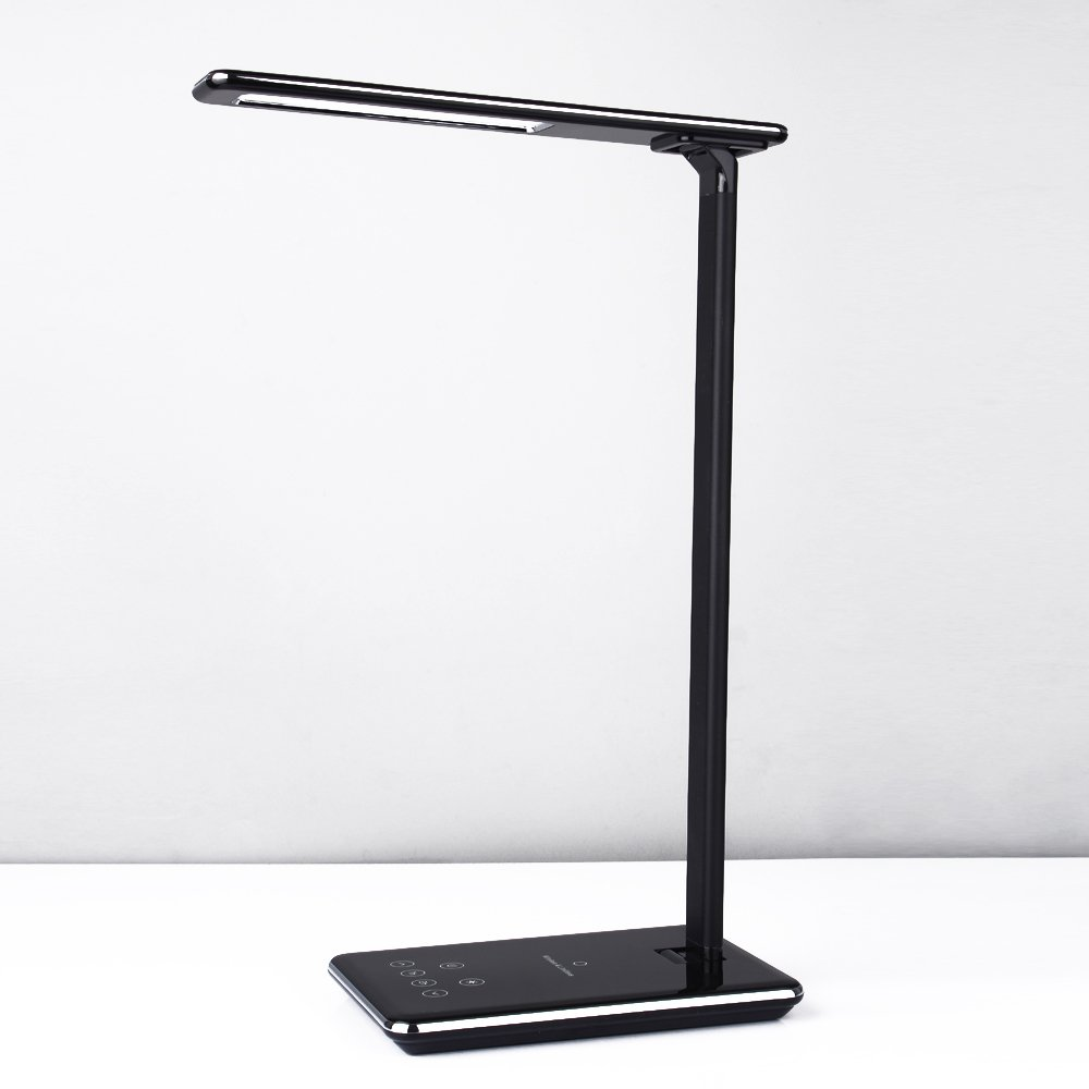 Amazon august lec315 led light dimmable led desk lamp with cxcase led desk lamp table lamps brightness adjustable office lamp with usb charging port geotapseo Image collections
