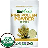 Biofinest Pine Pollen Powder (100% Pure Broken Cell Wall) – for Absorption – USDA Organic Raw Vegan Non-GMO- Boost Stamina Digestion (4oz Resealable) For Sale