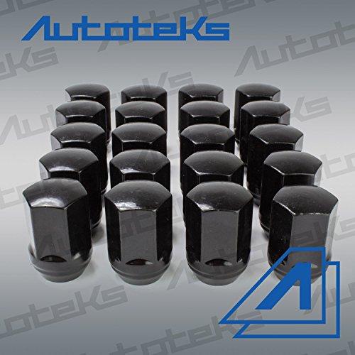 20 Pc 9/16'' Black OEM Style Factory Lug Nuts | Works with 2002-2011 Dodge Ram 1500 Dakota & Durango Factory Wheels by Autoteks