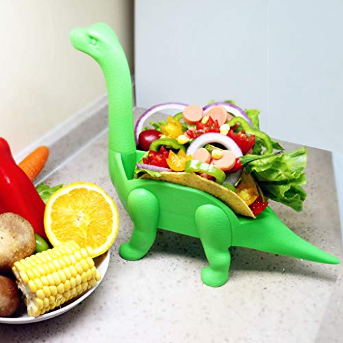 Tronet Taco Holder The Ultimate Prehistoric Taco Stand for Taco Tuesdays and Dinosaur (A, Green) by Tronet (Image #1)