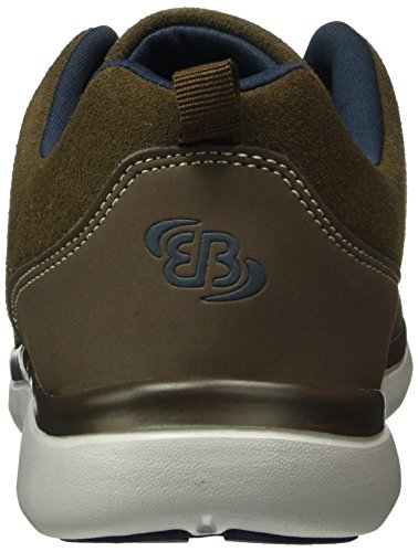 Bruetting Dallas, Baskets Basses Homme, Marron (Braun/Marine), 45 EU