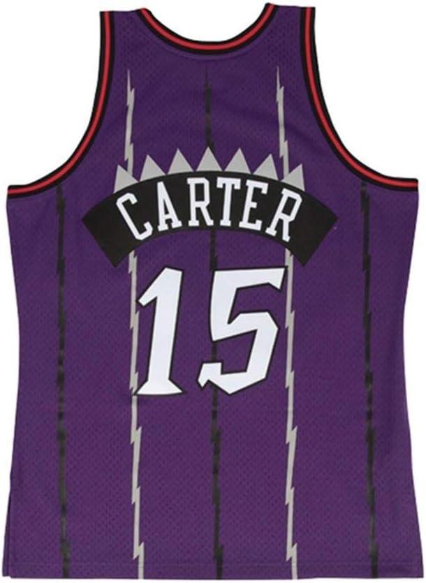 Jersey De Ventilador De Secado R/ápido Camiseta Deportiva XS-XXL HTQ Vince Carter 15# Jersey De Baloncesto