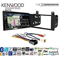 Volunteer Audio Kenwood DNX574S Double Din Radio Install Kit with GPS Navigation Apple CarPlay Android Auto Fits 2000-2005 Ford Thunderbird, 2000-2006 Lincoln LS