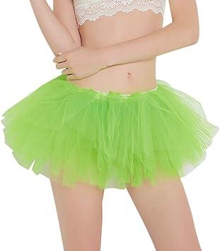XNBZW Falda tutú para mujer, disfraz de los años 80 para despedida ...
