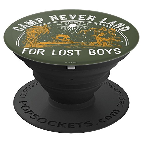 Disney Peter Pan Camp Never Land For Lost Boys Line Art - PopSockets Grip and Stand for Phones and Tablets