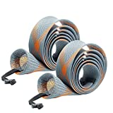 SF Standard Spinning Rod Sock Fishing Rod Sleeve Rod Cover Braided Mesh Rod Protector Pole Gloves Fishing Tools for Spinning Fishing Rod (New Gray/Orange/2PCS)
