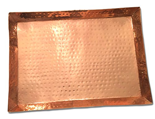 Hammered Rectangular Copper Platter by Mainroom Studios - 14