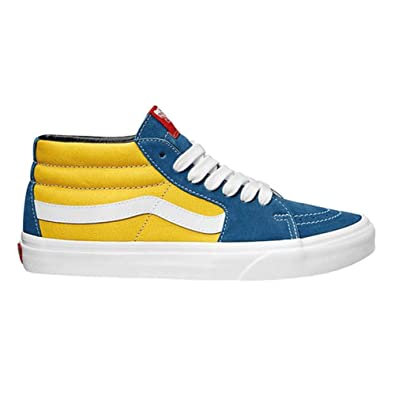 Vans Sk8 Mid Shoes 38 EU Retro Skate Sailor Blue Aspen Gold