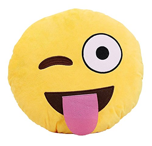 Leegoal Smiley Emoticon Yellow Cushion