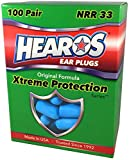 HEAROS Ear plugs - Xtreme Ear Protection Series,100 Pair