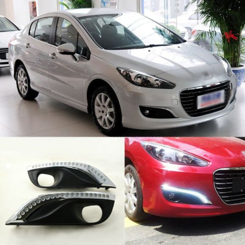 AupTech Peugeot 308 LED de coche luces de conducción diurna DRL luz diurna (1 par): Amazon.es: Coche y moto