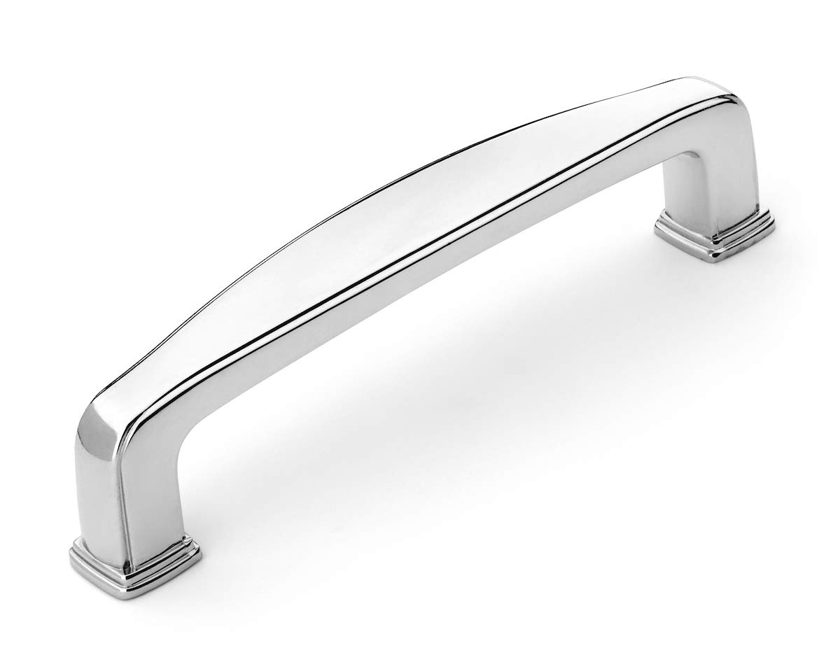Dynasty Hardware P-81092-26-10PK Cabinet Hardware 3-3//4-Inch Center to Center Pull 10-Pack Polished Chrome