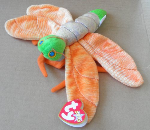 TY Beanie Babies Glow the Lightening Bug Stuffed Animal Plush Toy - 10 inches - Bug Lightening