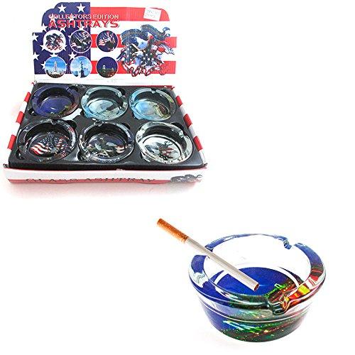 1-American-Heritage-Glass-Ashtray-Smoke-Pot-Weed-Cigarette-Us-Flag-Design-Gift