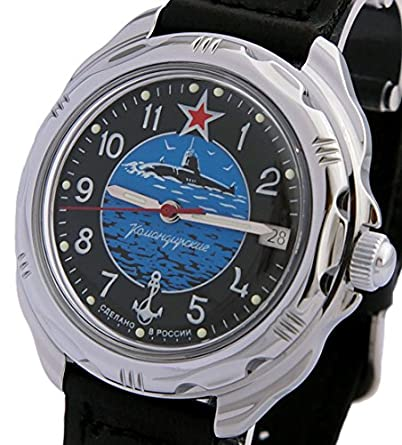 Vostok Komandirskie Military Russian Submarine Force U-Boot Commander Watch 2414 211163