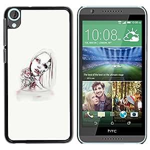 Eason tienda/duro tole Zeste carcasa maxilofacial - Android Mujer - para HTC Desire 820