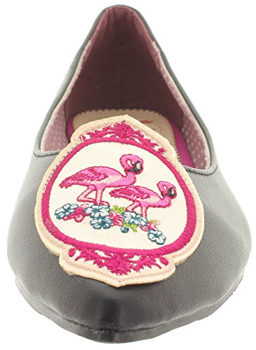 Dancing Days Banned Ballerinas Flamingo BND119 Black-Flamingo