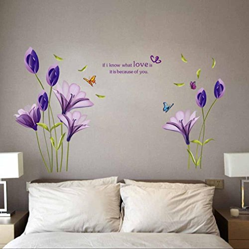 Hatop Removable Flowers Mural Wall Sticker Decal Home Living Room Decor Vinyl Art DIY