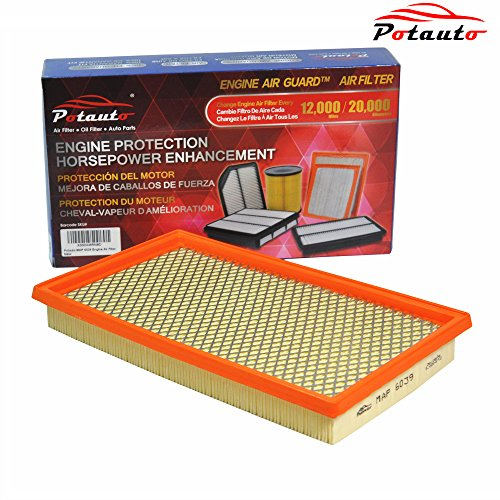 POTAUTO MAP 6039 Engine Air Guard Filter Replacement for INFINITI, NISSAN, ISUZU, SAAB, SUBARU (1996 Nissan 200sx Engine)