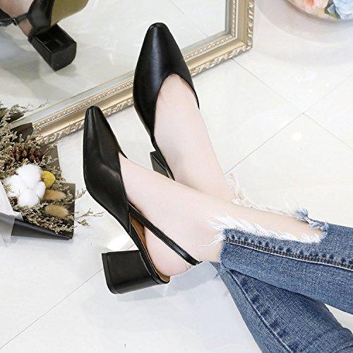 Xue Qiqi Tipp Tipp Tipp High Heels mit der rauhen Reise mit freiliegenden einzelne Schuhe Frauen Schuhe zu arbeiten. 4ba0f6