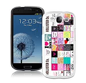 Unique And Luxurious Designed For Samsung Galaxy S3 I9300 Cover Case With Hollister 5 White Phone Case