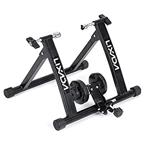 Lixada Indoor Cycling Bicycle Exercise Trainer Stand Magnet Steel Solid Frame Magnetic Resistance