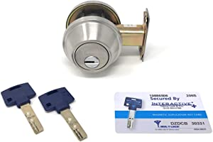 Mul-T-Lock Interactive+ Cronus High Security Grade 2 Single Cylinder Dead-Bolt w/Thumb Turn 2-3/8 or 2-3/4 Adjustable Backset for Commercial and Residential Metal Or Wood Doors (Stainless Steel)