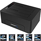 Sabrent USB 3.0 to SATA Dual Bay External Hard Drive Docking Station for 2.5 or 3.5in HDD, SSD with Hard Drive Duplicator/Cloner Function [10TB Support] (EC-DSK2)