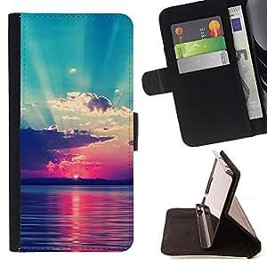- Summer Story - - Prima caja de la PU billetera de cuero con ranuras para tarjetas, efectivo Compartimiento desmontabl FOR Sony Xperia m55w Z3 Compact Mini Lady Case