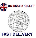 Aluminium Mega Pizza Screen Perforated Heavy Duty Pan Baking Tray Net Wire 6' to 18' inch (UK Base Seller) (8' inch - 20.32cm)
