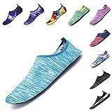 ELETOP Mens Womens Outdoor Indoor Shoes Yoga Socks Aqua Socks W:11-12/M:9.5-10.5