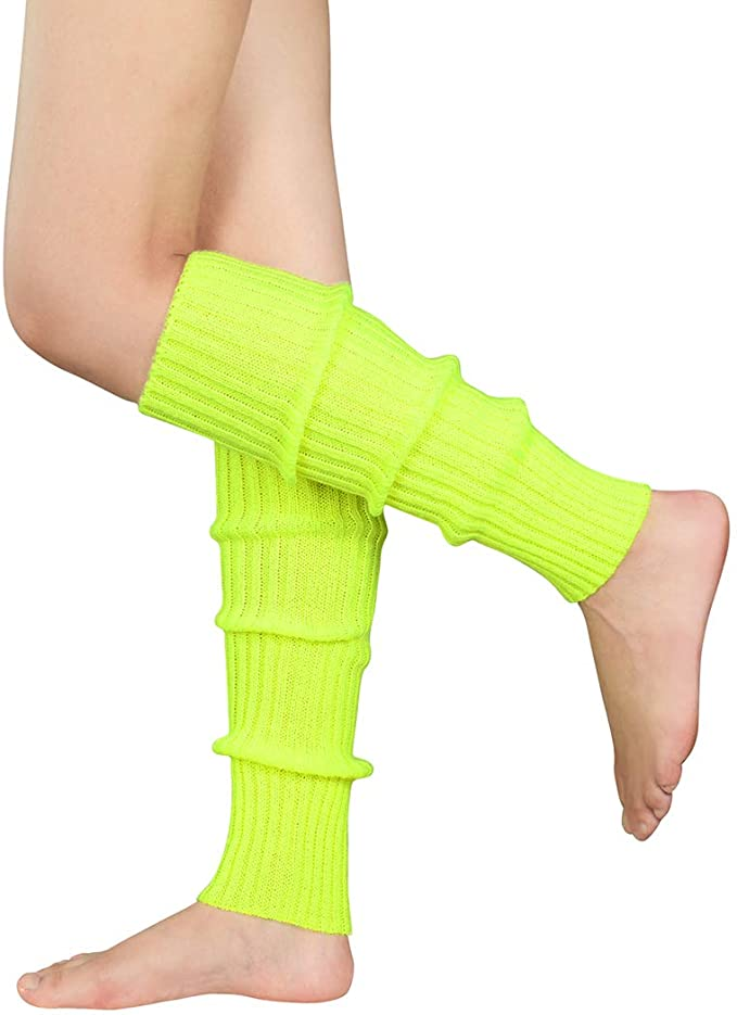 80s Costumes, Outfit Ideas- Girls and Guys Durio 80s Leg Warmers Ribbed Knit Neon Leg Warmers for Women 80s Costume for Party $6.99 AT vintagedancer.com