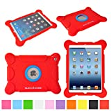 suchAcase Reader Series Kids Friendly Baby Safe Heavy Duty Soft Protective Case for Apple iPad Air (Red)