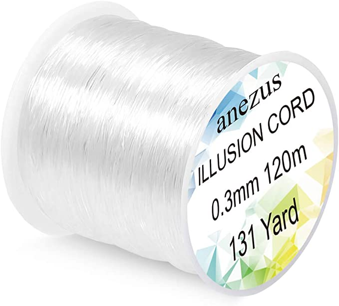 Fishing line 500M Nylon Sea Fishing Wire Clear Monofilament Abrasion Resistant Strong Tension High Load String Invisible Paralleled Roll Cord for Hanging Decorations
