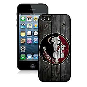 Unique And Durable Designed Case With NCAA Atlantic Coast Conference ACC Footballl Florida State Seminoles 12 Black For iPhone 5S Phone Case