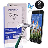 (2 Pack) iPhone 6 Plus Screen Protector, Ultra-Clear High Definition (HD) Tempered Glass Screen Protectors for iPhone 6 Plus and iPhone 6S Plus