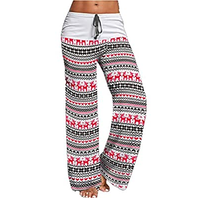Artfish Women's Loose Baggy Yoga Palazzo Pants Floral Printed Lounge Flowy Beach Pants at Women's Clothing store