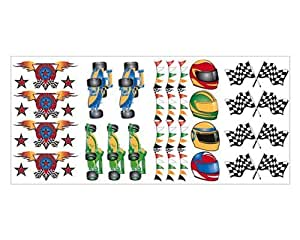 RACE CAR Racing WALL DECOR applique wallpaper sticker