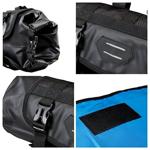 Roswheel Attack Series 111369 Waterproof Adjustable Capacity Bike Bicycle Cycling Handlebar Bag Detachable Dry Pack, Black by Roswheel (Image #6)
