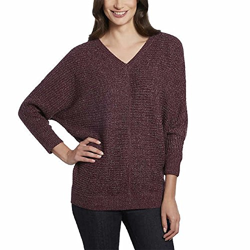 Ellen Tracy Womens 3/4 Sleeve V-Neck Sweater Top (X-Large)