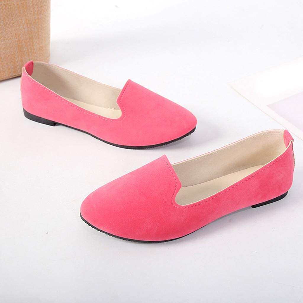 BEAUTYVAN Women Girls Solid Big Size Slip On Flat Shallow Comfort Casual Single Shoes