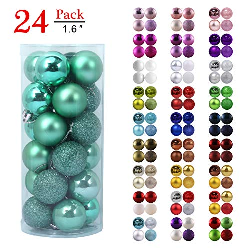 Teal Christmas Ornaments (GameXcel Christmas Balls Ornaments for Xmas Tree - Shatterproof Christmas Tree Decorations Large Hanging Ball Teal 1.6